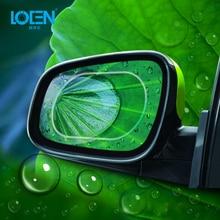 LOEN 2 шт. непромокаемый автомобильный пленка на зеркало заднего вида наклейка противотуманная защитная пленка защита от дождя сменная наклейка противотуманная пленка