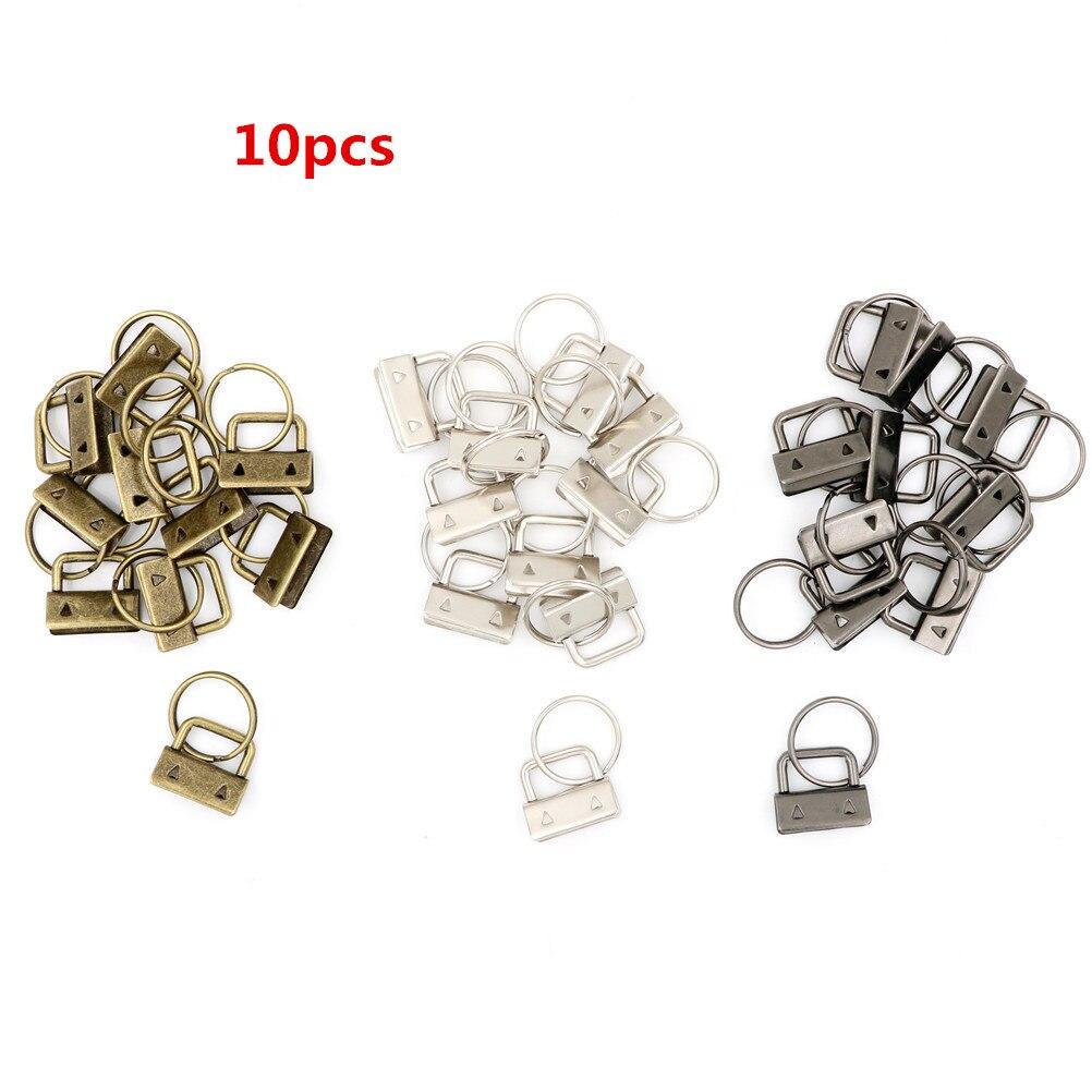 10 Pcs/set Key Fob Hardware 25mm Keychain Split Ring For Wrist Wristlets Cotton Tail Clip
