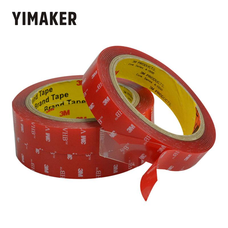 YIMAKER 3m strong acrylic adhesive film 5-20mm 3M4910VHB double sided tape for glass High temperature resistant non-trace