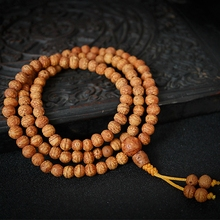 7mm Tibetan Buddhism 108 Small Phoenix eyes Bodhi seeds Mala Necklace