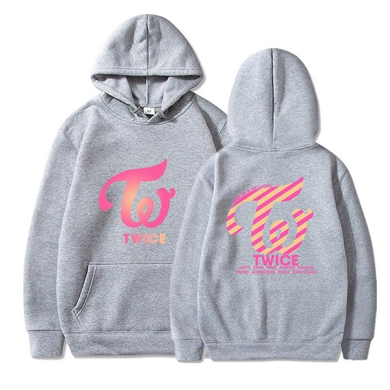 Kpop TWICE Hoodies Sweatshirts Women Men Hoodies Clothes Long Sleeve Hooded Pullover Tops Sweatshirt Streetwear Tracksuit Male 9