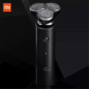 Image 1 - חדש Mijia גברים של מכונת גילוח חשמלי S500 נטענת 3 ראשי סוג C רטוב יבש מכונה גילוח זקן גוזם רחיץ כפול להב