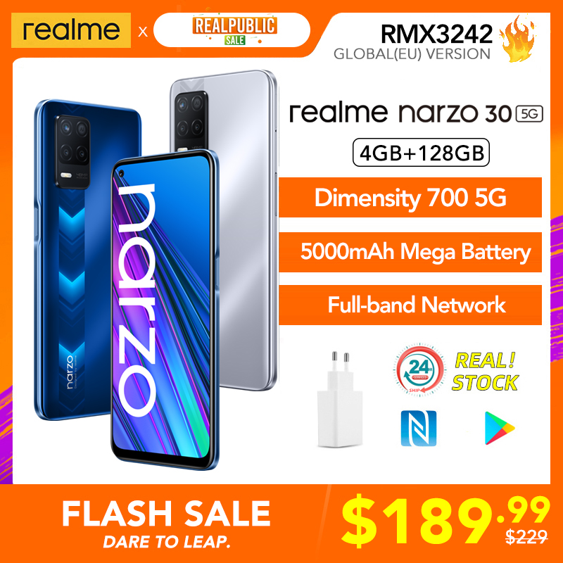 realme 6 Pro Global Version 8GB RAM 128GB ROM Snapdragon 720G 30W Flash Charge 4300mAh 64MP Camera NFC EU Charger Play Store Cellphones  - AliExpress