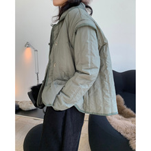 Padded Jacket Versatile Thick Winter Women New Warm And Lapel Cotton Loose