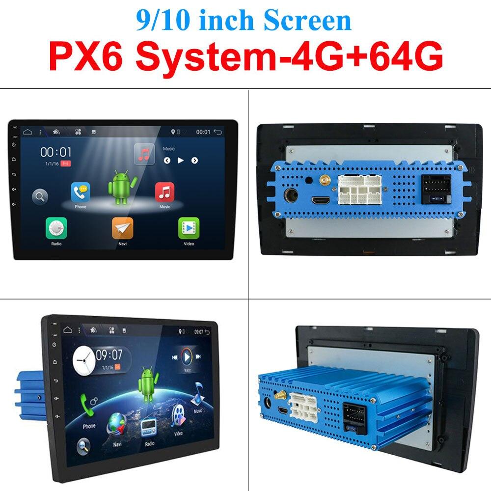 """4G 64G Android 10,0 Universal 1 din auto reproductor Multimedia radio de coche 2din estéreo 10 """"reproductor de coche Auto Radio HDMI PX6 sistema"""
