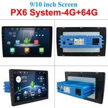 "Reproductor Multimedia Universal para coche, radio con reproductor, Android 10,0, 4G, 64G, 1 din, estéreo, 2din, 10 "", sistema HDMI PX6"