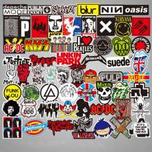 100 PCS Rock Sticker Music Retro Band Graffiti Stickers To DIY Guitar Motorcycle Laptop Luggage Skateboard Car Snowboard(China)