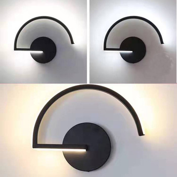 Nordic line black and white creative personality wall lamp designer decorated led bedroom bedside modern aisle LED lamp LB40905