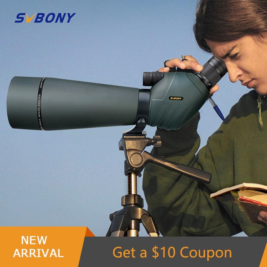 SVBONY 20-60X70/80 SV411 telescope Zoom Spotting Scope Waterproof binoculars powerful hunting camping night vision monocular