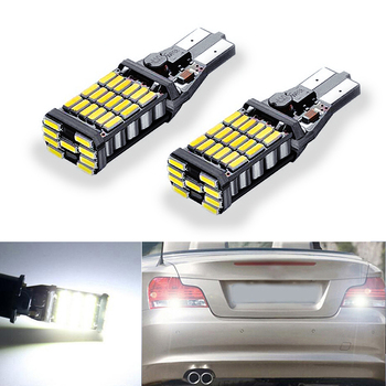 2x T15 W16W LED CANBUS Samsung 4014 Chip High Power Backup Reverse Light For BMW 5 Series E60 E61 F10 F11 F07 Mini Cooper image