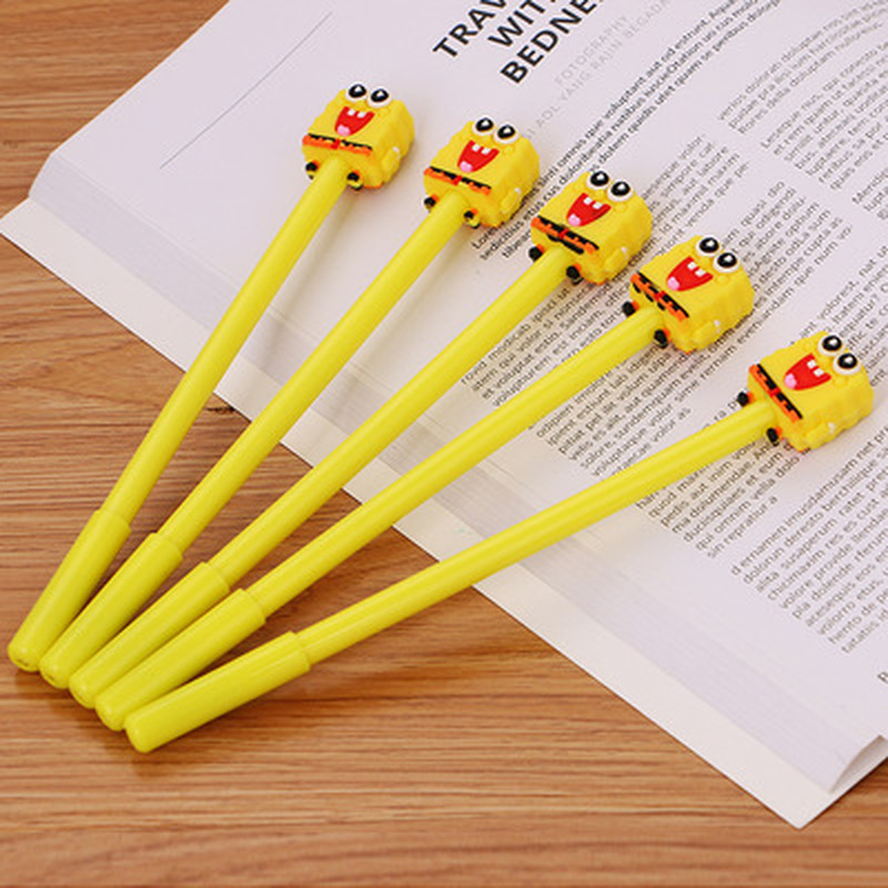 1pcs SpongeBob Gel Pen 0.5mm Cute Pens Novelty Stationery  Kawaii Pen Student Cute Black Writing Pens Kawaii School Supplies