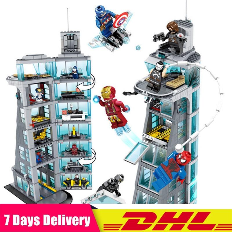 2019 Sh678 Avengers tour 7th étage blocs de construction Marvel Super héros Figures compatibles Legoings briques Avenger tour