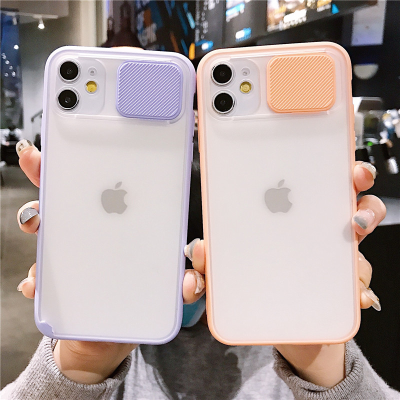 Simple Soft For iPhone 11 pro max Candy Slide Camera Lens Full Cover Shockproof For iPhone X XS MAX XR 7 8 Plus 6 6S Cover Caqa image