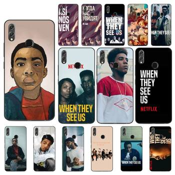 FHNBLJ When They See Us Phone Case For Huawei Honor 8X 8A 9 10 20 Lite 30Pro 7C 7A 10i 20i image