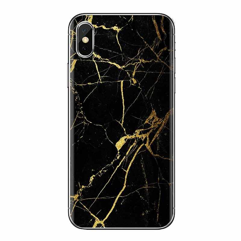 Silikonowe pokrowce na Huawei Honor 7X V10 6C V9 6A graj 9 Mate 10 Pro Y7 Y5 P8 P10 Lite plus GR5 2017 marmuru tri, czarny, złoty, hellip