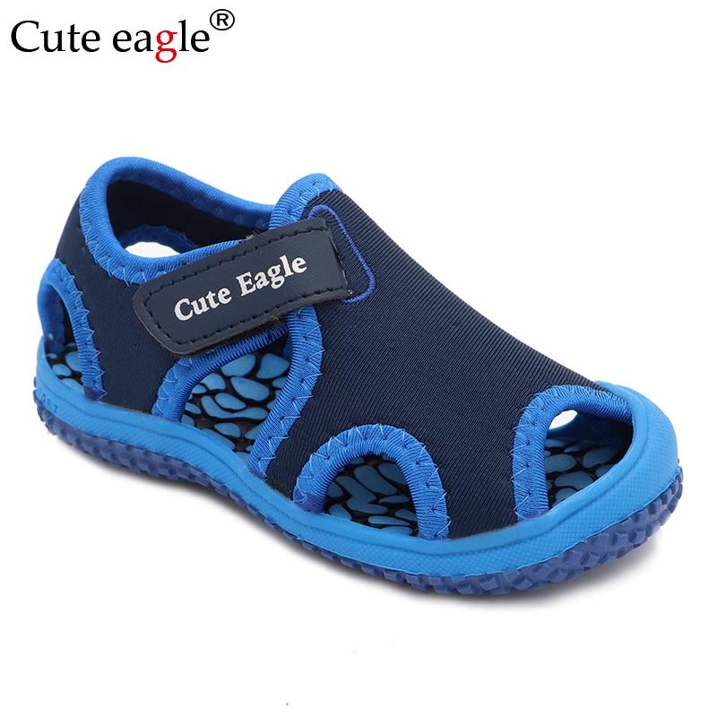 Cute Eagle Summer Elegant Girls Shoes Toddler Kids Sandals   Comfort Flats Pedicure Non-slip Baotou Children Beach Shoes New
