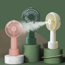 แบตเตอรี่แบบพกพาสเปรย์Mistพัดลมไฟฟ้าUSBชาร์จมือถือมินิพัดลมCooling Air Conditionerสำหรับกลางแจ้ง