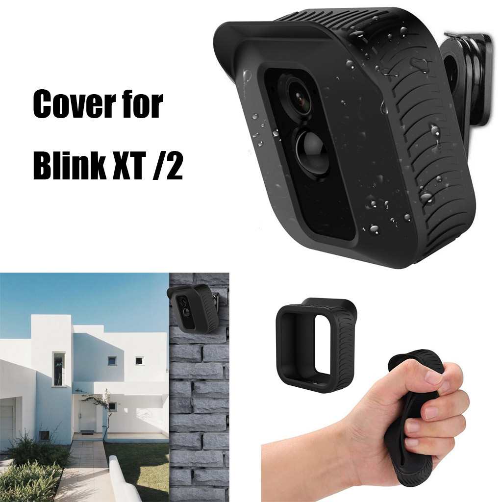 Black 360 Degree Adjustable Wall Mount & Cover for Blink XT Home Security Camera for wearable devices image