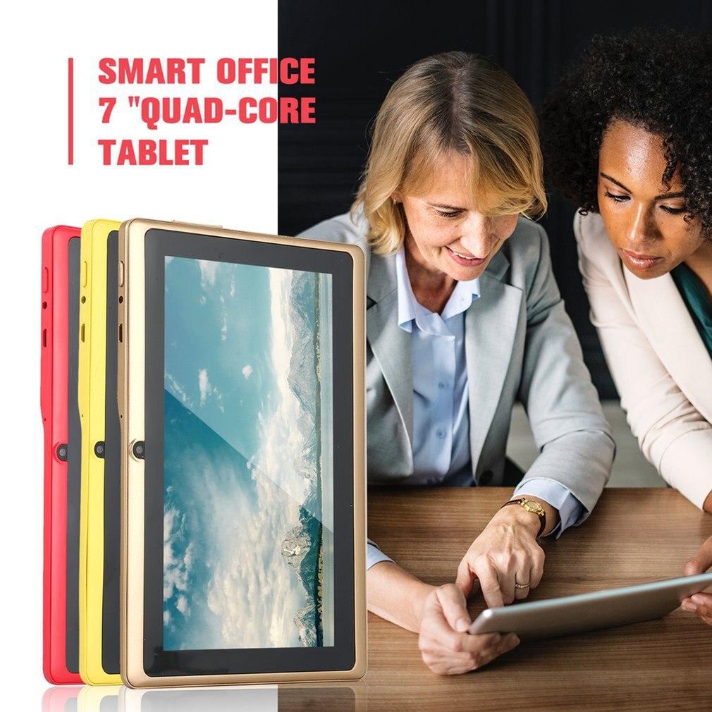 7 Inch Quad-core Tablet Computer Q88h A33 Android 4.4 Wifi Internet Bluetooth 512MB+8GB Convenient  9 Colors US EU UK AU PLUG