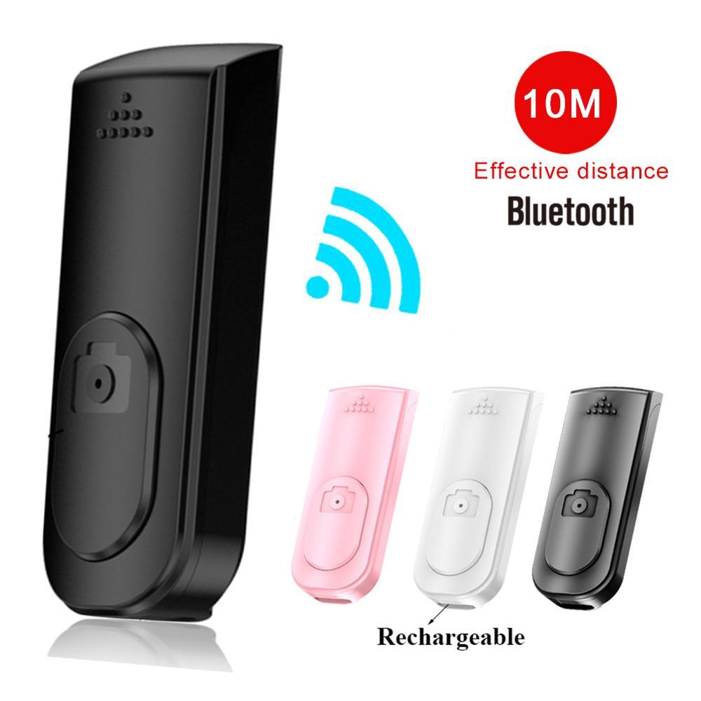 Мини Bluetooth беспроводная кнопка дистанционного управления перезаряжаемый контроллер Автоспуск камеры спуска затвора селфи для ios Android