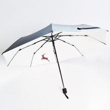 Folding Umbrella Sunscreen Anti-UV Waterproof Women Umbrellas Parasol Creative Fashion Simplicity Retro Deer