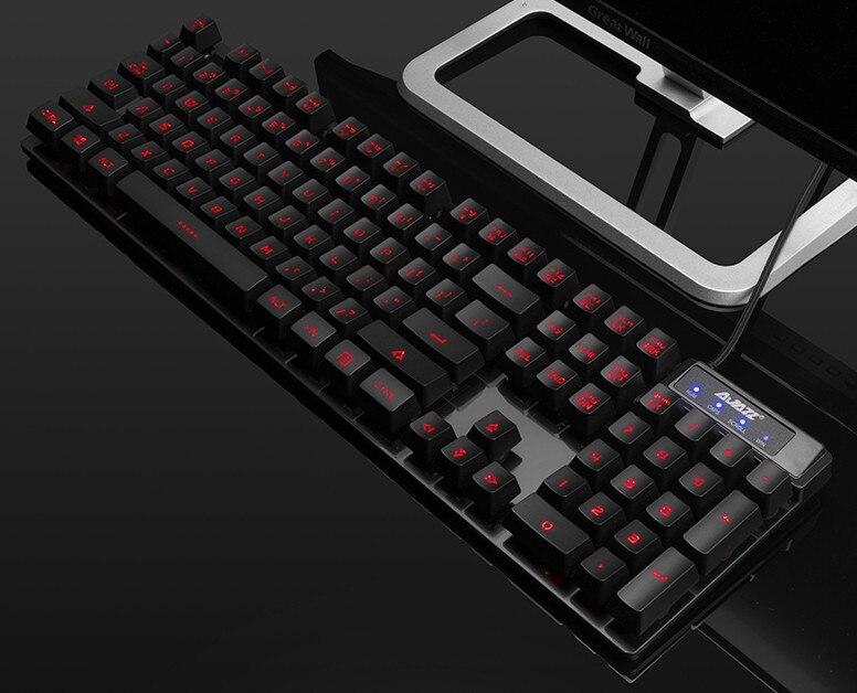 Ajazz Machinery Warrior Backlight Gaming Keyboard Laptop Computer USB External Wired Night Light Keyboard Lol