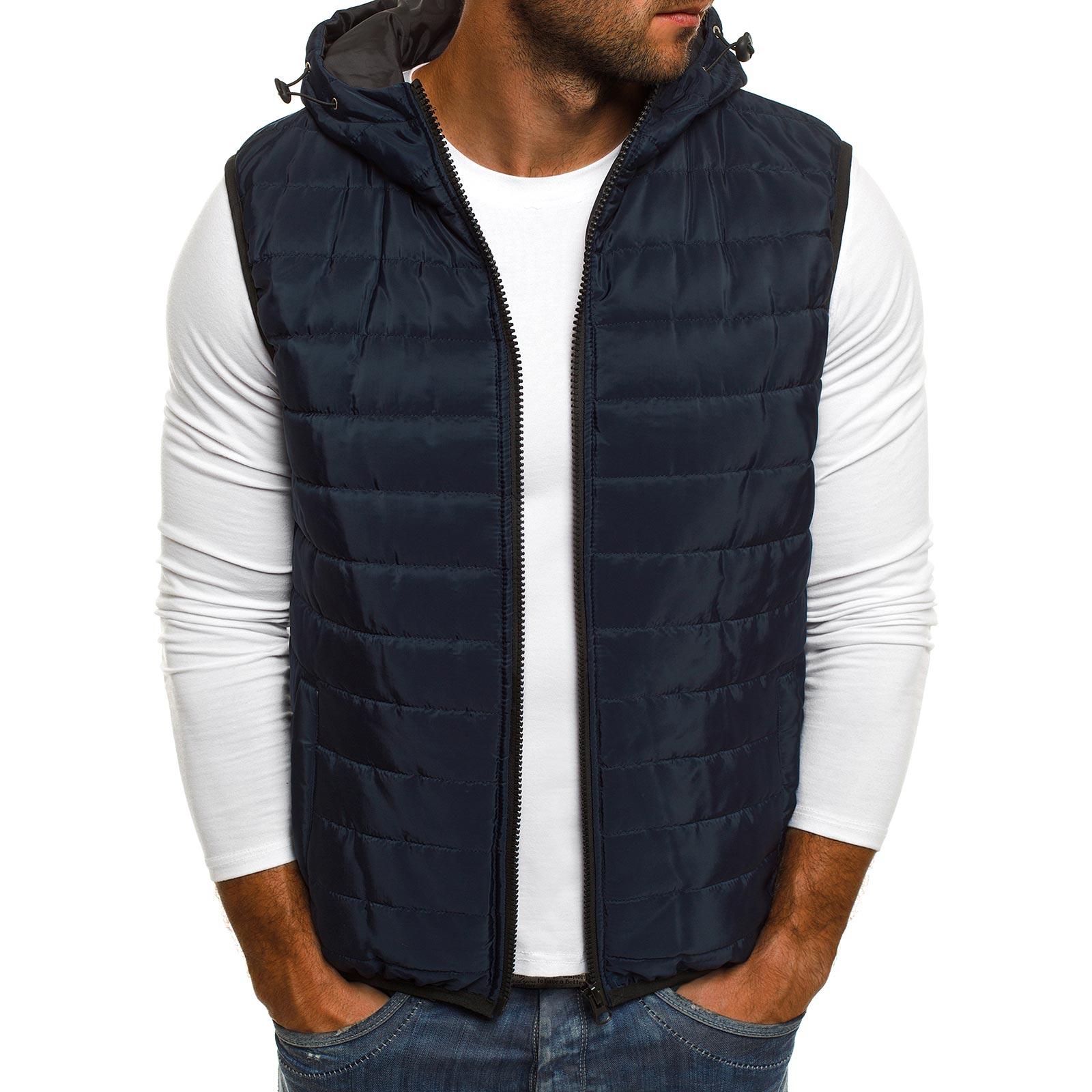ZOGAA Vest Men New Stylish 2019 Spring Autumn Warm Sleeveless Jacket Winter Waistcoat Mens Casual Coats mens vest