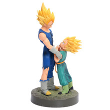 13 centímetros anime japonês Dragon ball Vegeta Trunks PVC Action Figure Brinquedos Dragon ball Z Trunks Vegeta Modelo Decoração Brinquedos presente do miúdo(China)