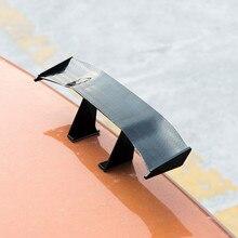 6,7 дюймов автомобиль хвост крыло углерода дешевый спойлер Универсальный мини авто волокно украшение ABS/пластик Материал углеродное волокно