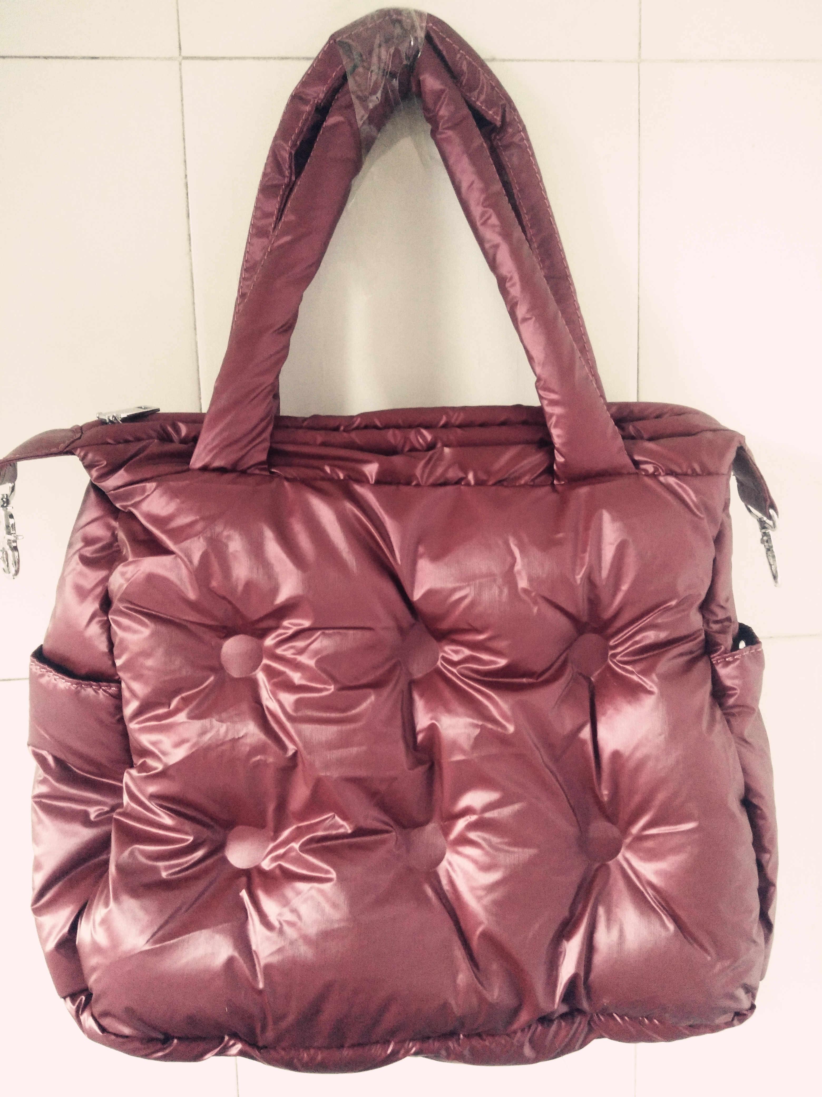 Inverno novas Mulheres Pad Espaço Algodão Feather Down Bag Balde Bolsa de Ombro de nylon Tote sac a principal carteira Bolsa Feminina