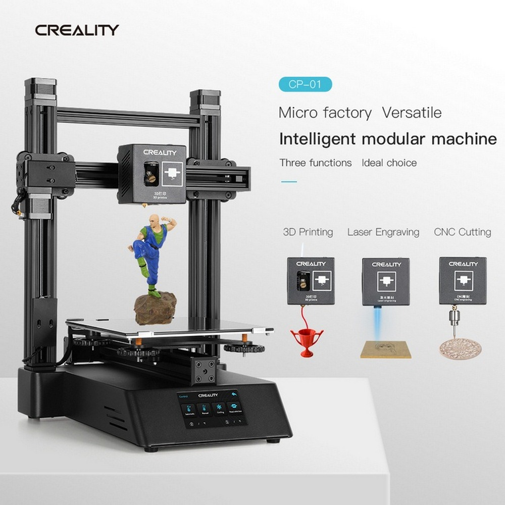 Upgraded 3 In 1 3D Printer Laser Engraver CNC Router Laser Cutter Engraver Machine For Wood PCB Plastic 4800rpm Speed DIY Kit