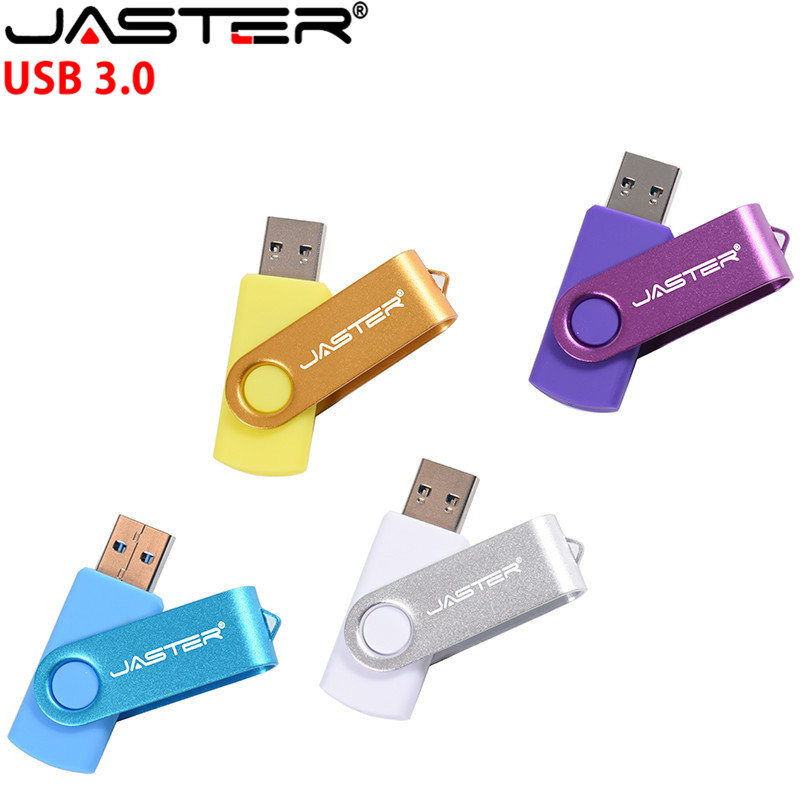 JASTER Rotation USB Flash Drive Metal Pen Drive 128GB Usb Stick 3. 0 Pendrive 64GB 32GB 16GB 8GB 4GB High Speed Flash Drive