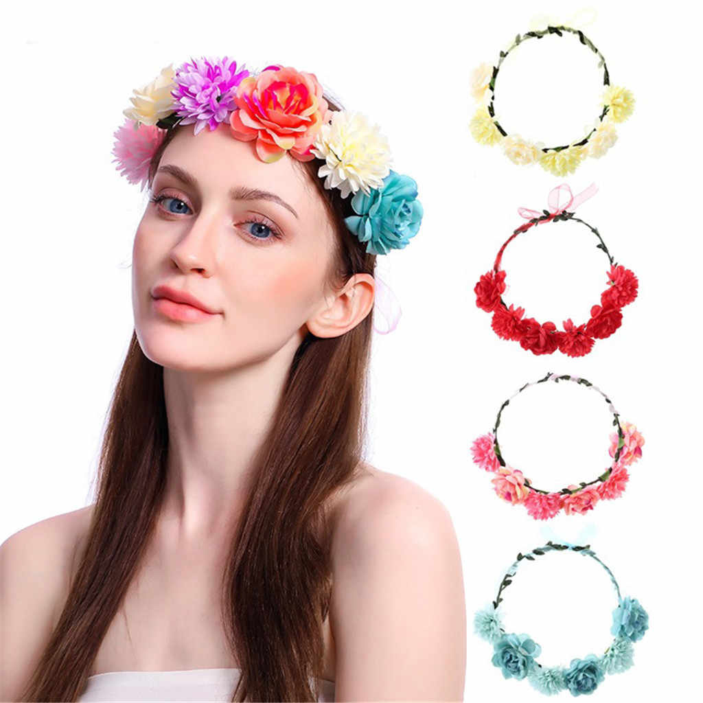 Women Special Flower Headband Wreath Crown Floral Wedding Gar Flower Wedding Garland Hair Head Band Party Hair Accessories
