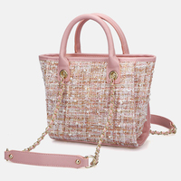 Bags For Woman 2020 Fashion Winter Woollen Hand Bag Square Top Handle Shoulder Bag bolsa feminina luxury handbags women