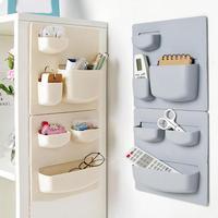 Estante de almacenamiento de plástico autoadhesivo para refrigerador de cocina organizador de esponja de limpieza, suministros de Cocina Casera para frutas y verduras