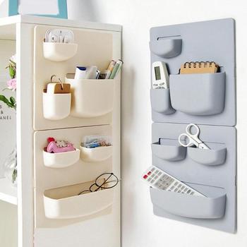 Plastic Self-adhesive Kitchen Refrigerator Fridge Storage Rack Organizer Cleaning Sponge...