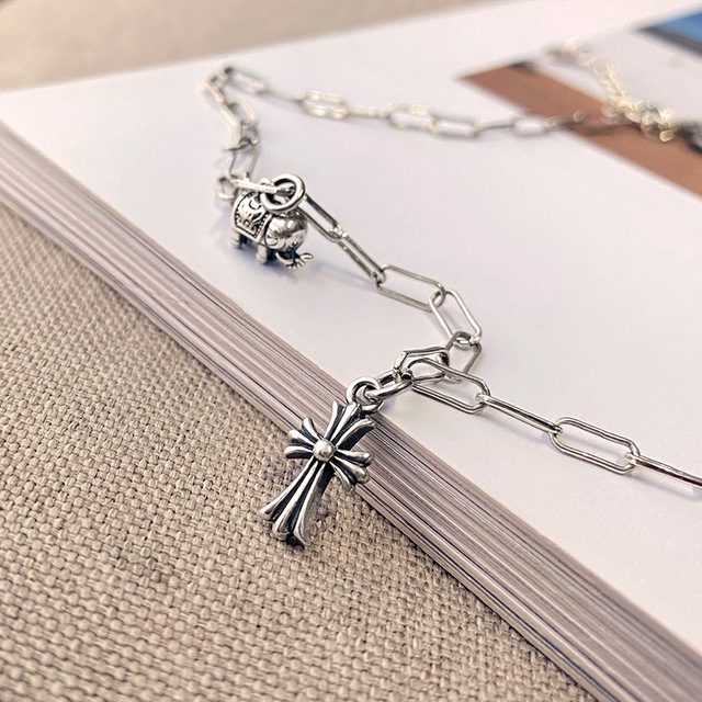 Фото leouerry серебро 925 пробы винтажное ожерелье с подвеской в