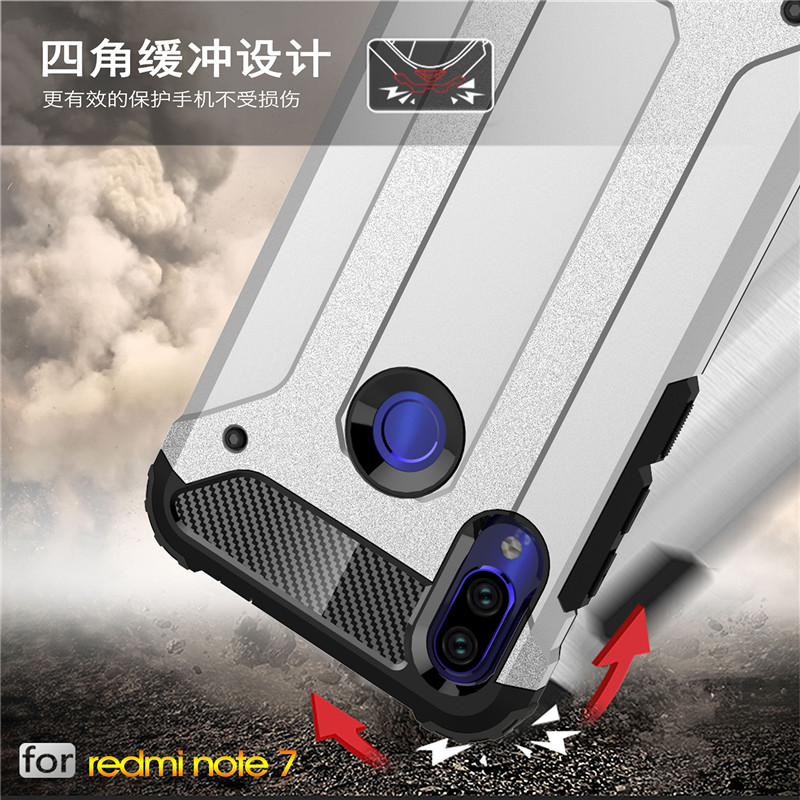 For <font><b>Xiaomi</b></font> <font><b>Redmi</b></font> Note <font><b>7</b></font> Case Armor Phone <font><b>Back</b></font> <font><b>Cover</b></font> For <font><b>Xiaomi</b></font> <font><b>Redmi</b></font> Note <font><b>7</b></font> Silicone Bumper Phone Case Funda For <font><b>Redmi</b></font> Note <font><b>7</b></font> image