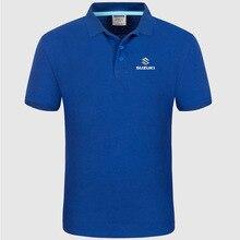 Логотип Suzuki, мужская летняя рубашка поло с коротким рукавом, Хлопковая весенняя повседневная мужская рубашка поло f