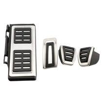 цена на Car Stainless Steel Sport Accelerator Brake Foot Rest Pedal Cover For Volkswagen VW GOLF 7 MK7 Octavia A7 ( LHD )
