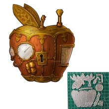 2021 New Metal Cutting Dies Steampunk and Apple idea Die Cut Scrapbooking For Crafts Card Making Clock Layering Dies