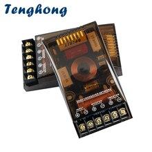 Tenghong 1pc 2 voies haut parleur croisé 200W Woofer Tweeter voiture stéréo Modification basse aigus diviseur haut parleur fréquence bricolage
