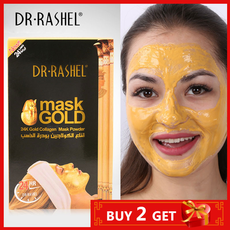 DR.RASHEL Nano 24K Gold Whitening Anti-Wrinkle Facial Mask Powder Collagen Acne Remover Brightening Luxury Anti-aging Hydrating