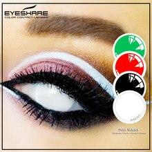 EYESHARE – 1 paire de lentilles de Contact Cosplay de grand diamètre, entièrement entourées, couleur Sclera, Halloween