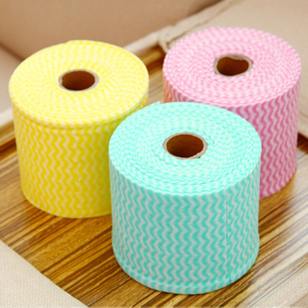 1 Roll 65.6ft Facial Tissue Disposable Soothing Cotton Face Towel Makeup Cleaning Wash Cloth Hand Towel
