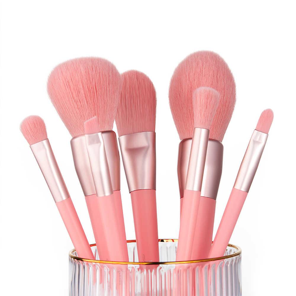 Jessup pincéis Novo Liquidificador Fundação escova Coral Vivo Lábio Angular pincel de Blush Em Pó conjunto de pincéis de Maquiagem de cabelo Sintético