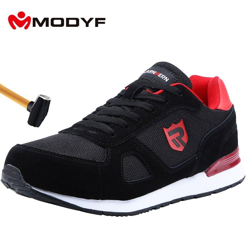 MODYF chaussures de sécurité travail Construction bottes hommes en plein air en acier orteil chaussures de grande taille hommes résistant à la perforation baskets légères