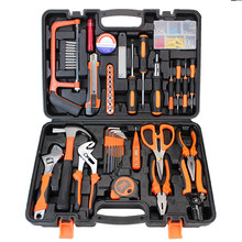 Conjunto de herramientas de mano para el hogar, caja de herramientas electrotécnicas, destornillador de mano, electrosonda, HTS028, 50 Uds.