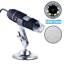 Skin Analyzer Machine 1000 Times HD USB Electronic Microscope Portable Handheld Magnifying Glass Skin Detector