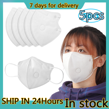 5 PCS KN95 Masks Air Purifying Dust KN95 Protective Mask Pollution Vented Respirator Face Mask Mouth Masks 7 Days Delivery tanie i dobre opinie Oddychająca Non-woven Fabric ≥95 (0 075μm Particles) 3 Years KN95=N95 Non-washable Disposable mask 3-Layer Non-woven Disposable Face Mask